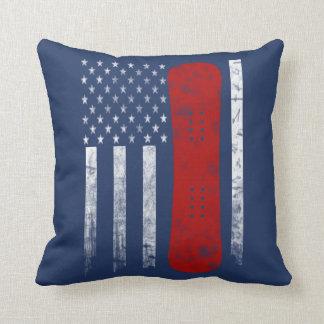 Snowboarding Flag Cushion
