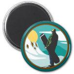 Snowboarding Fridge Magnet