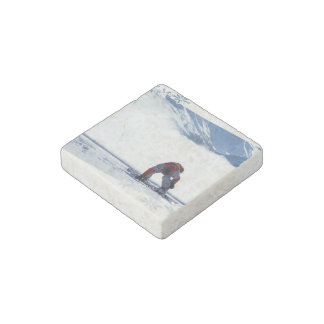Snowboarding Stone Magnet