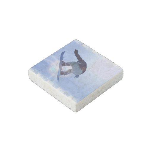 Snowboarding Stone Magnet