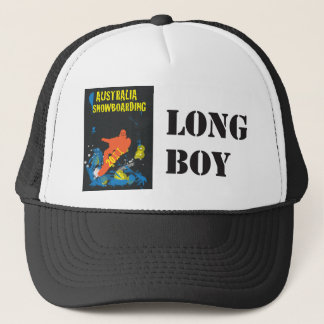 Snowboarding (Hat), long boy Trucker Hat