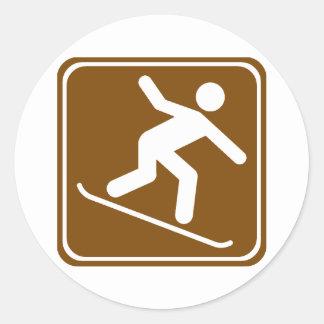 Snowboarding Highway Sign Sticker