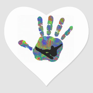 SNOWBOARDING HIPPED OUT HEART STICKER
