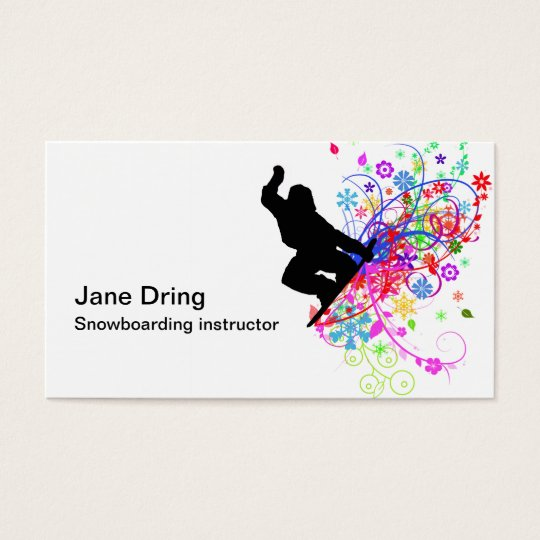 snowboarding instructor business cards