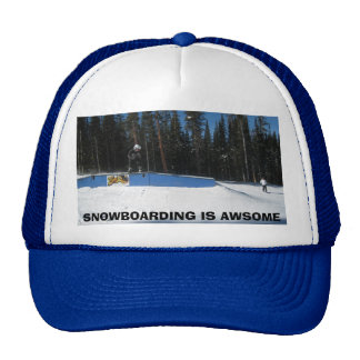 SNOWBOARDING IS AWESOME MESH HAT