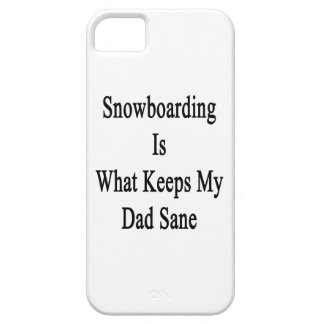 Snowboarding Is What Keeps My Dad Sane Case For iPhone 5/5S