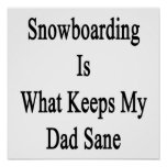 Snowboarding Is What Keeps My Dad Sane Poster