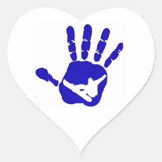 SNOWBOARDING MODEST BLUE HEART STICKER