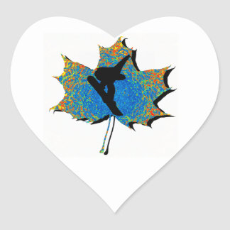 SNOWBOARDING MOMENTS INFINITY HEART STICKER