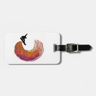SNOWBOARDING NO LIMITS LUGGAGE TAG