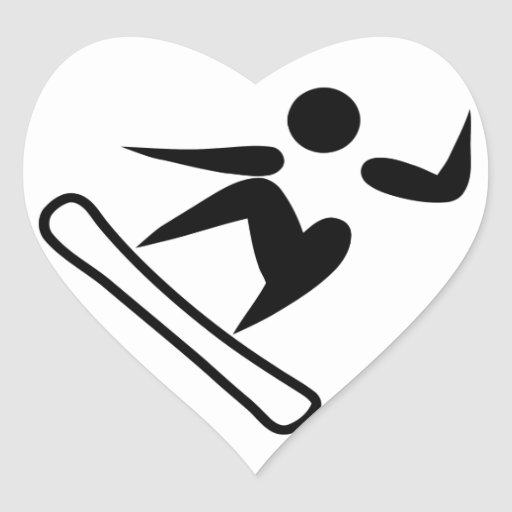 Snowboarding Pictograph Stickers