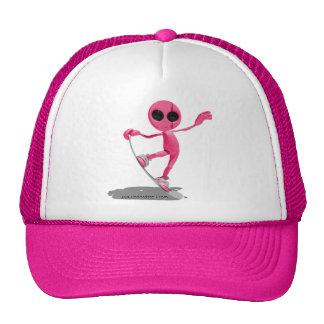 Snowboarding Pink Alien Hat