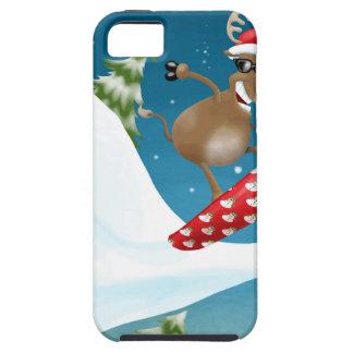 Snowboarding reindeer iPhone 5 cases