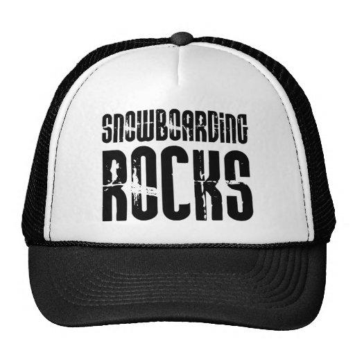 Snowboarding Rocks Mesh Hat