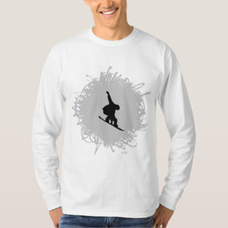 Snowboarding Scribble Style T-Shirt