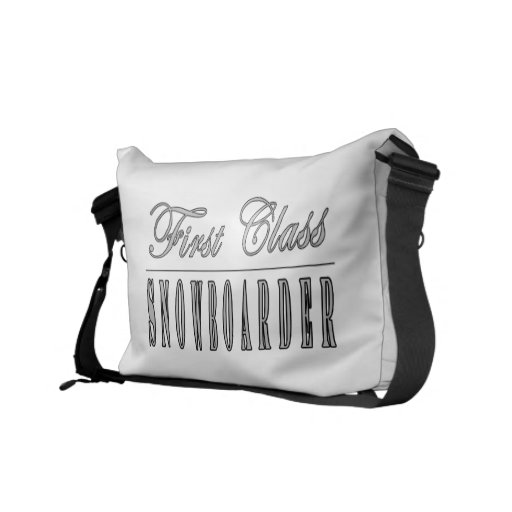 Snowboarding Snowboarders First Class Snowboarder Courier Bag