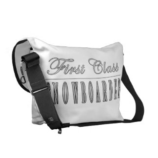 Snowboarding Snowboarders First Class Snowboarder Messenger Bags