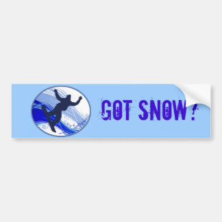 Snowboarding & Snowflakes Bumper Stickers