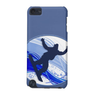 Snowboarding & Snowflakes iPod Touch 5G Covers