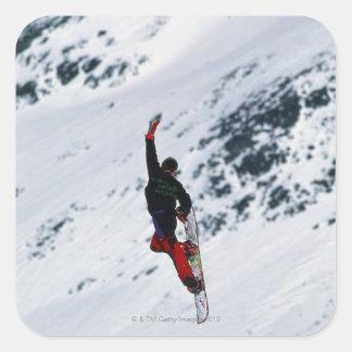 Snowboarding Square Sticker