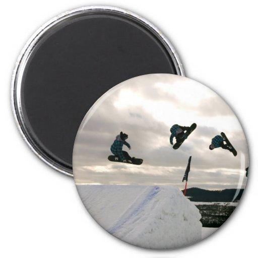 Snowboarding Tricks Magnet Magnets