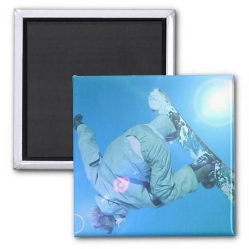 Snowboarding Tricks Pictures Square Magnet Fridge Magnets