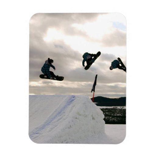 Snowboarding Tricks Premium Magnet Flexible Magnets
