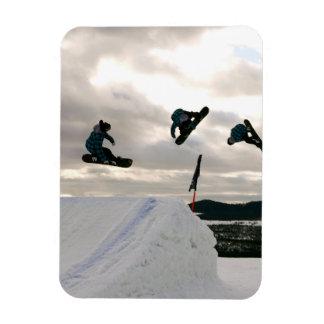 Snowboarding Tricks Premium Magnet