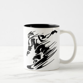 SNOWBOARDING Two-Tone COFFEE MUG