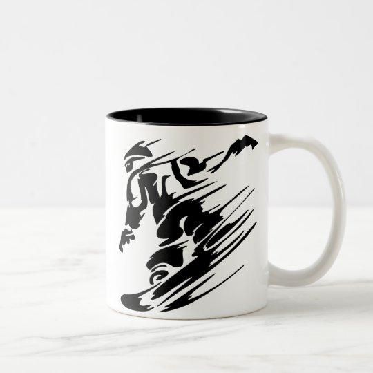 SNOWBOARDING Two-Tone COFFEE MUG