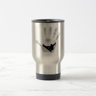 SNOWBOARDING WINTERS PALACE STAINLESS STEEL TRAVEL MUG