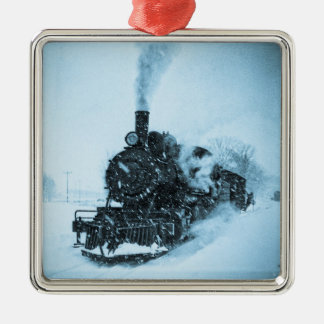Snowbound Locomotive Christmas Ornament