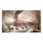 Snowbound Train Christmas Gift Tags Business Card