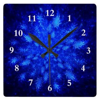 Snowburst Square Wall Clock