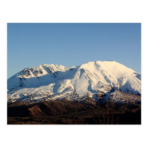 Snowcapped Mt. Saint Helens in February Postcard