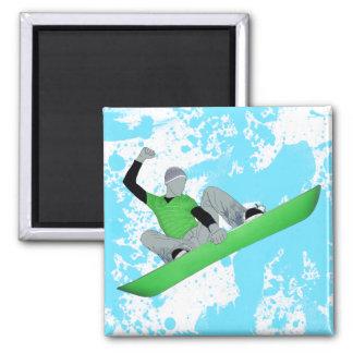 snowcore. square magnet