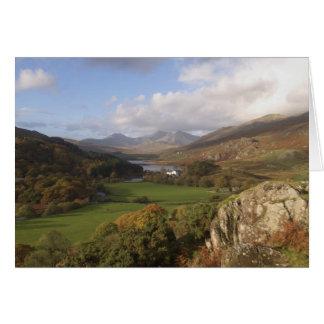 Snowdon from Capel Curig, Gwynedd, Wales (RF) Card