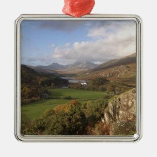 Snowdon from Capel Curig, Gwynedd, Wales (RF) Christmas Ornament