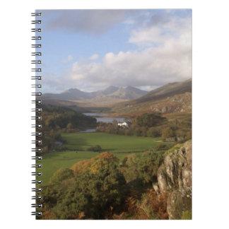 Snowdon from Capel Curig, Gwynedd, Wales (RF) Spiral Note Book