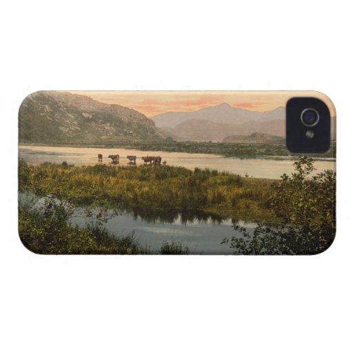 Snowdon from Glaslyn, Gwynedd, Wales iPhone 4 Case-Mate Cases