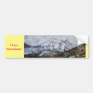Snowdon Horseshoe in Winter.JPG Bumper Sticker