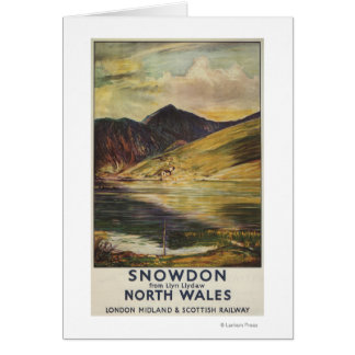 Snowdon Mountain View Railway Poster Card