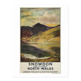 Snowdon Mountain View Railway Poster Postcard