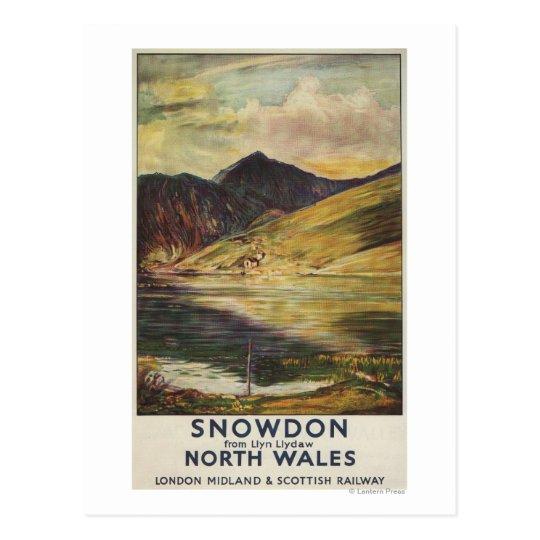 Snowdon Mountain View Railway Poster Postcard