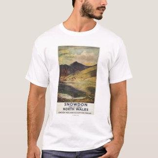 Snowdon Mountain View Railway Poster T-Shirt