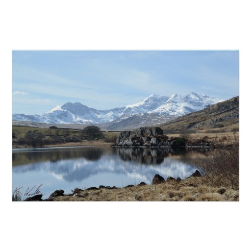 Snowdon Reflection (Signed) Poster