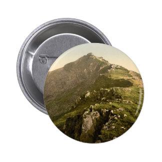 Snowdon - The Last Mile, Gwynedd, Wales 6 Cm Round Badge