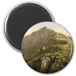 Snowdon - The Last Mile, Gwynedd, Wales 6 Cm Round Magnet