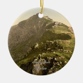 Snowdon - The Last Mile, Gwynedd, Wales Round Ceramic Decoration