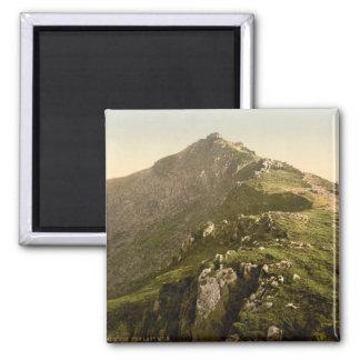 Snowdon - The Last Mile, Gwynedd, Wales Square Magnet